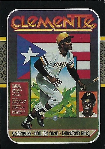 1987 donruss roberto clemente diamond king