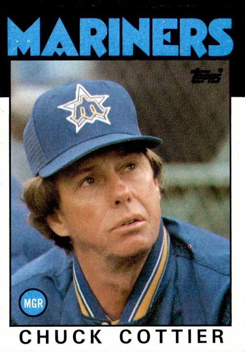 1986 Topps Chuck  Cottier