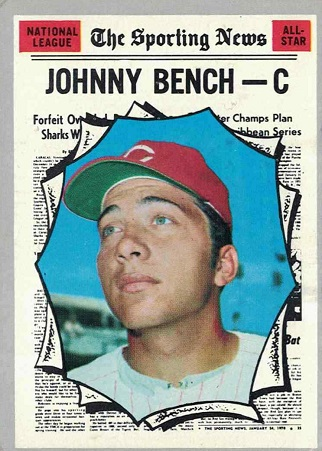1970 Topps Johnny Bench All-Star (#464)