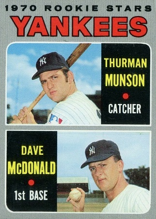 1970 Topps Thurman Munson Rookie Card (#189)