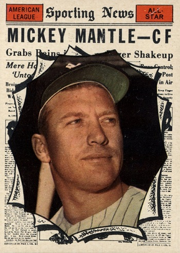 1961 Topps Mickey Mantle All Star