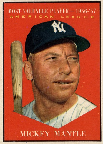 1961 Topps Mickey Mantle MVP
