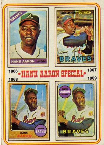 1974 Topps Hank Aaron Retrospective