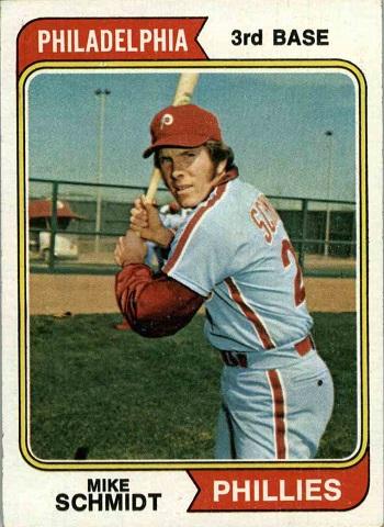 1974 topps mike schmidt