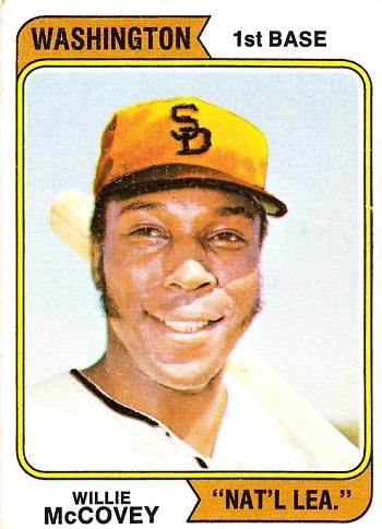 1974 Topps Willie McCovey (Washington)