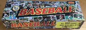 1974 topps baseball unopened wax box