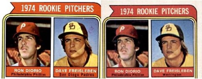 How Ron Diorio Landed on TWO 1974 Topps Rookie Cards
