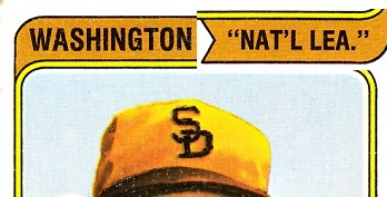 1974 topps washington nat'l lea.