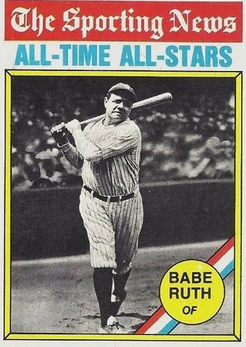 1976 Topps Babe  Ruth All-Time All-Stars