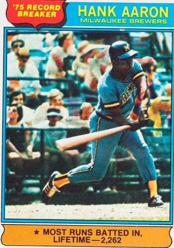 1976 Topps Hank  Aaron Record Breaker