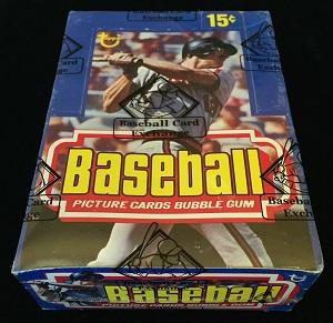 1977 topps baseball unopened wax box