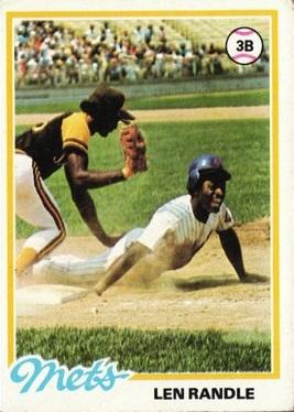 1978 Topps Lenny Randle