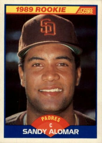 1989 Score Sandy Alomar Jr. Rookie Card