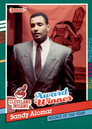 1991 Donruss Sandy Alomar Jr. award winner
