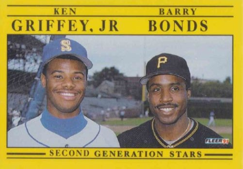1991 Fleer Ken Griffey Jr Barry Bonds