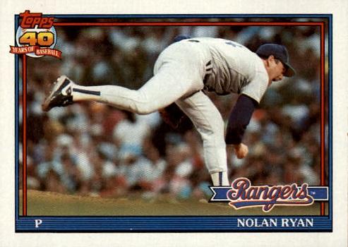 1991 Topps Nolan Ryan