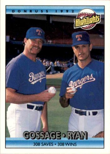 1992 Donruss Nolan Ryan Goose Gossage