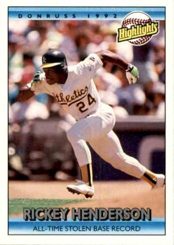 1992 Donruss Rickey Henderson Highlights