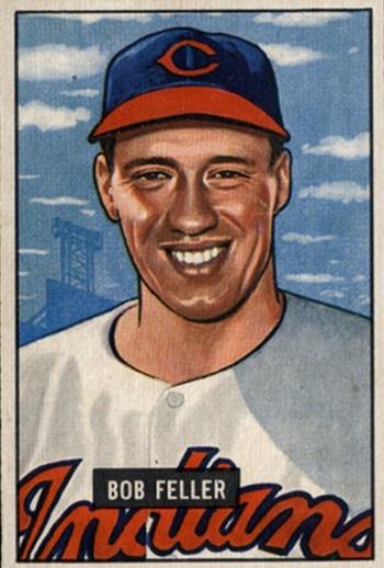 1951 Bowman Bob Feller