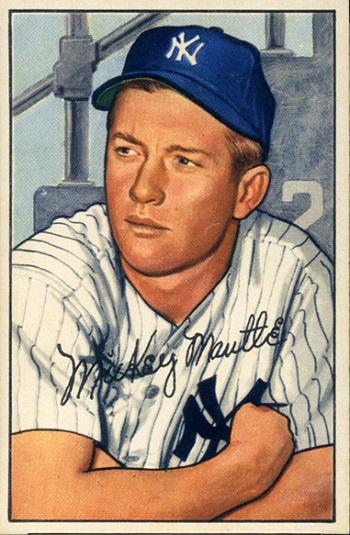1952 Bowman Mickey  Mantle