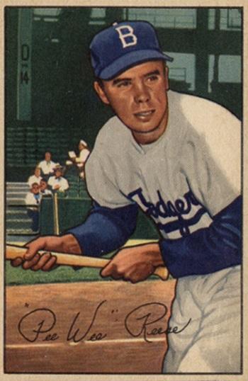 1952 Bowman Pee  Wee  Reese