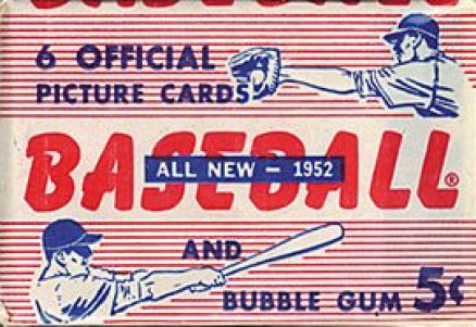 1952 Bowman baseball cards unopened wax pack