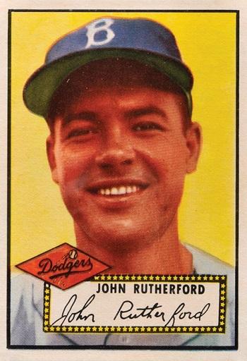 1952 Topps John Rutherford
