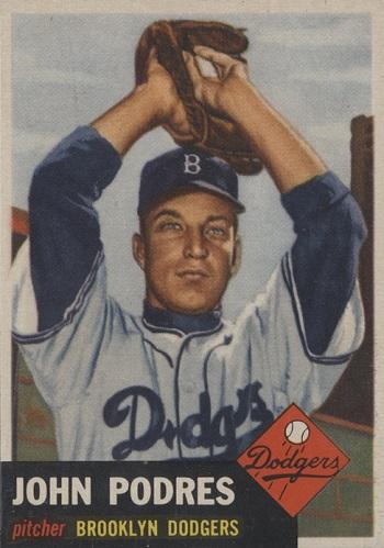 1953 Topps Johnny Podres