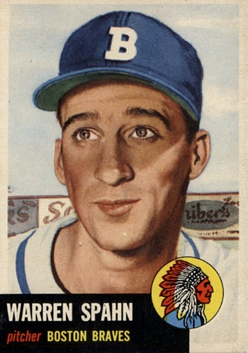 1953 Topps Warren  Spahn