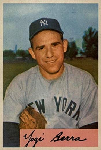 1954 Bowman Yogi  Berra