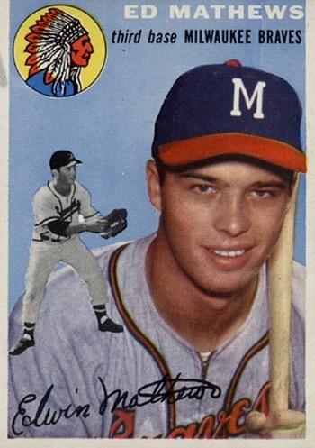 1954 Topps Eddie Mathews