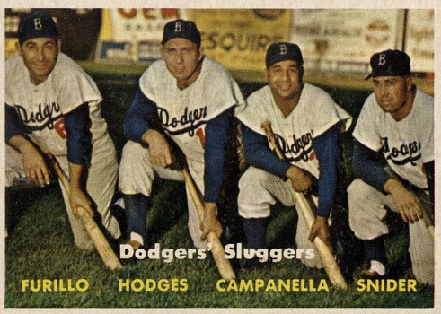 1957 Topps Dodgers Sluggers (Campy,Snider,etc.)