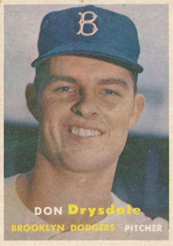 1957 Topps Don Drysdale