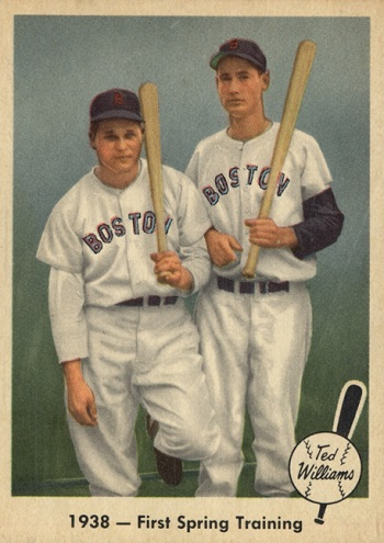 1959 Fleer Ted Williams First Spring Training (Jimmie Foxx)