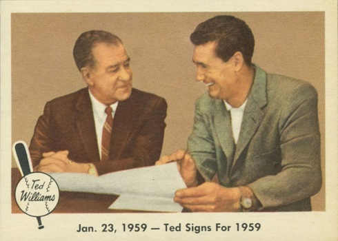 1959 Fleer Ted Williams Ted Signs for 1959