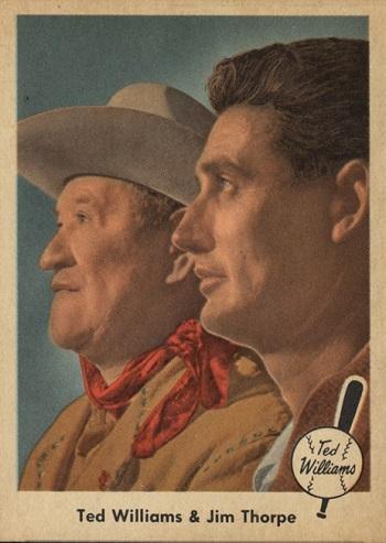 1959 Fleer Ted Williams Ted Williams _ Jim Thorpe
