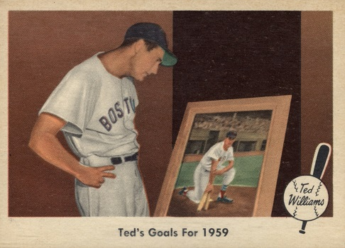 1959 Fleer Ted Williams Ted_s Goals for 1959