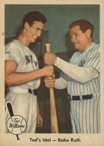 1959 Fleer Ted Williams Ted_s Idol (Babe Ruth)
