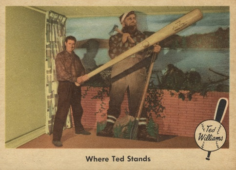 1959 Fleer Ted Williams Where Ted Stands