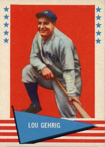 1961 Fleer Lou Gehrig