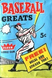 1961 Fleer baseball cards baseball greates unopened wax pack