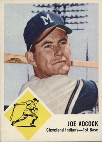 1963 Fleer Joe Adcock SP