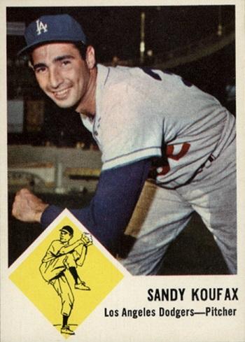 1963 Fleer Sandy Koufax