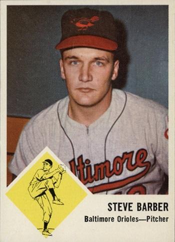 1963 Fleer Steve Barber