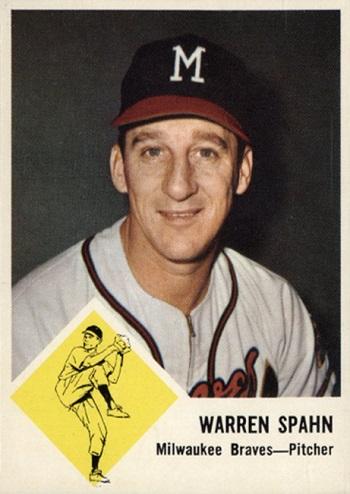 1963 Fleer Warren Spahn