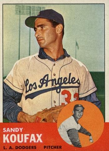 1963 Topps Sandy Koufax