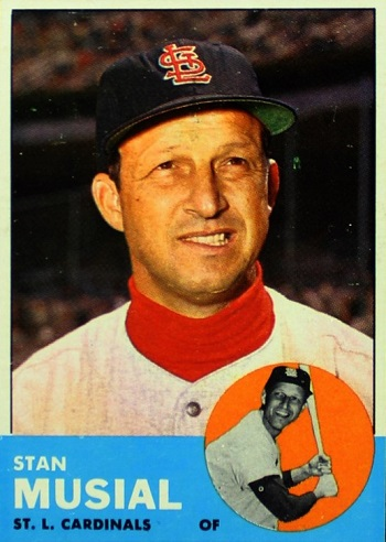 1963 Topps Stan Musial