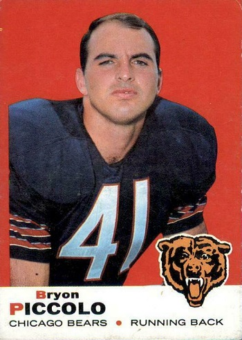 1969 Topps Brian Piccolo rookie card