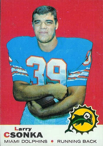 1969 Topps Larry Csonka rookie card