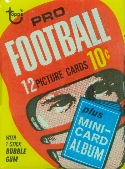 1969 Topps football cards unopened wax pack